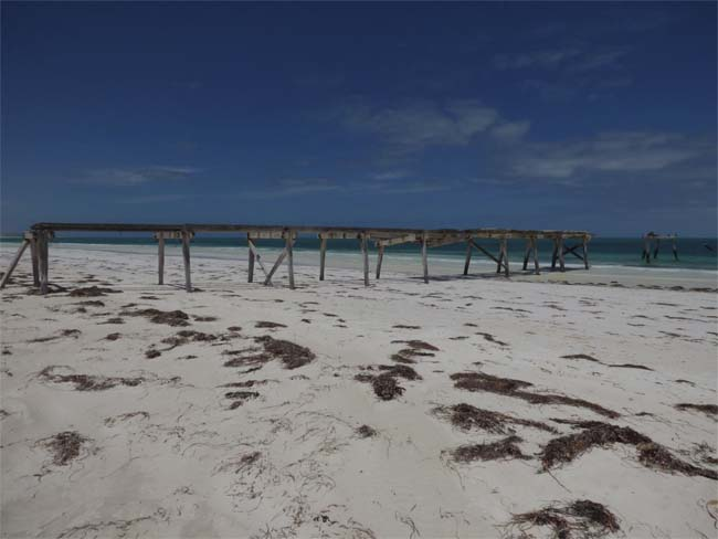 Abandoned jetty at Eucla seen from the land, Western Australia