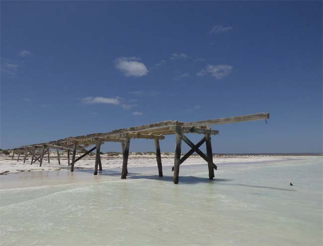 Abandoned jetty at Eucla, Western Australia