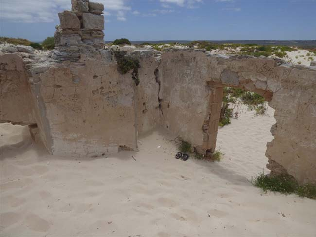 Looking out from the ruins of the old Telegraph Station, at Eucla, Western Australia