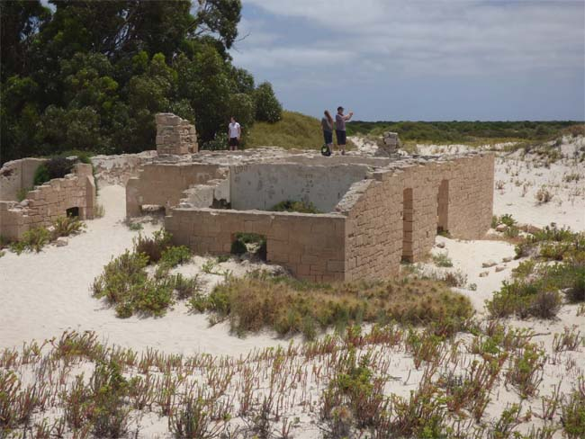 Looking over the ruins of the old Telegraph Station, at Eucla, Western Australia