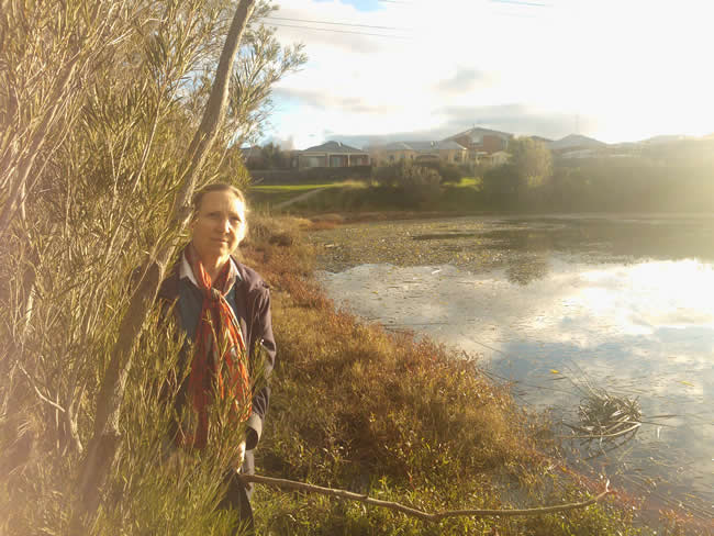 A beautiful lady in a beautiful place. Augustine's Dam, Highton, Geelong, Australia.